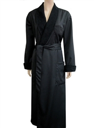 Black & Black Bathrobe