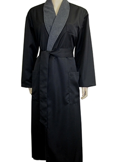 Black & Charcoal Bathrobe