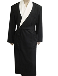 Black & Parchment Bathrobe