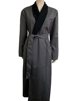 Charcoal & Black Bathrobe