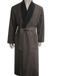 Chocolate & Black Bathrobe