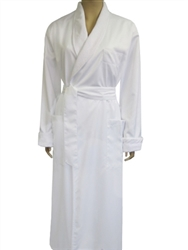 luxury white bath robe