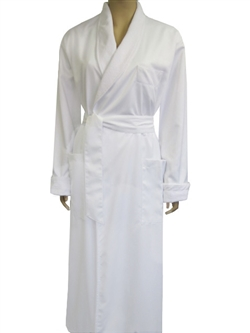 Pure White & White Bathrobe