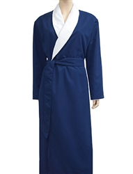 Cobalt Blue & White Bathrobe