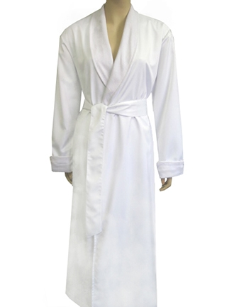 cheap exclusive deals newest style of Pure White & White Bathrobe