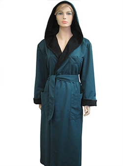 Evergreen & Black Bathrobe