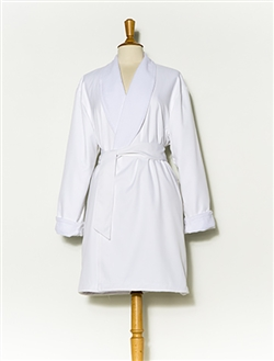 Pure White & White Short Spa Robe